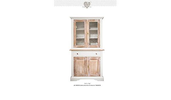 Credenza Con Alzata Due Ante : Credenza in legno vintage due ante con alzata disponibile