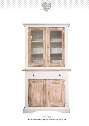 Credenza in legno vintage due ante con alzata disponibile in diverse rifiniture ARTE DI NACCHI 639/SCN