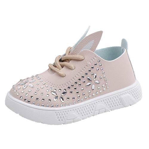 hen Freizeitschuhe Booties Kinder Bequem Stiefel Cartoon Sport Schuhe Kristall Prinzessin Einzelne Schuhe Süß Lace Up Lässige Turnschuhe Mode Outdoor Kinderschuhe ()