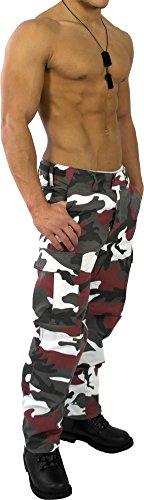 US Rangerhose Freizeithose Rangerhose BDU Style Red-Camo