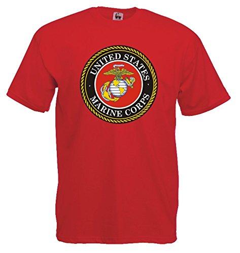 Settantallora - T-shirt Maglietta J577 Marines Corps Taglia (Militari T-shirt)