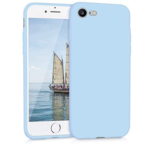 kwmobile Apple iPhone 7/8 Cover - Custodia per Apple iPhone 7/8 in Silicone TPU - Backcover Protezione Blu Chiaro Matt