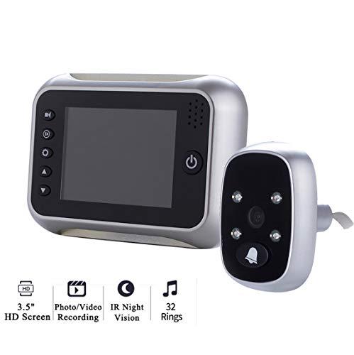 MBEN 3,5-Zoll-Bildschirm Home-Video-Türklingel, 1MP HD Türspion-Viewer, Nachtsicht, Türklingel, Videofoto, geeignet für Wohn- / Büro/Wohnung/Hotel