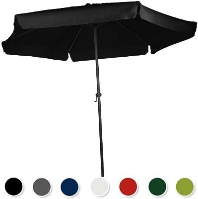 Miadomodo –Sombrilla de poliéster para jardín, terraza o playa – diferentes colores y diámetros a elegir