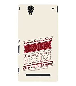 EPICCASE consequences Mobile Back Case Cover For Sony Xperia T2 (Designer Case)