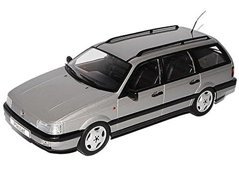 VW Volkswagen Passat B3 VR6 Variant Grau 1988-1993 1/18 KK-Scale Modell Auto mit individiuellem Wunschkennzeichen