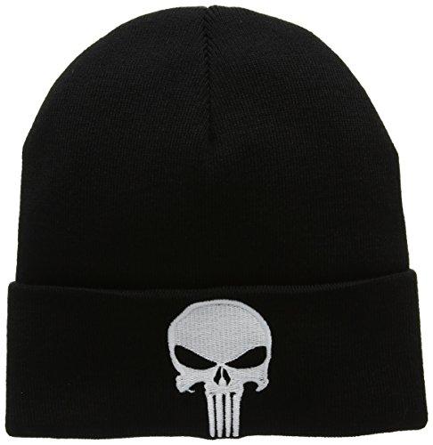 Marvel Unisex Strickmütze Punisher, Schwarz One Size