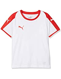 Puma Liga Jersey Jr Camiseta, Unisex niños, White/Red, ...