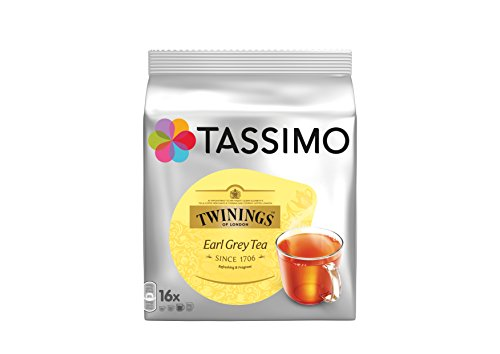TASSIMO Twinings Thé Earl Grey 16 Tdisc - Lot de 5 (80 Tdisc)