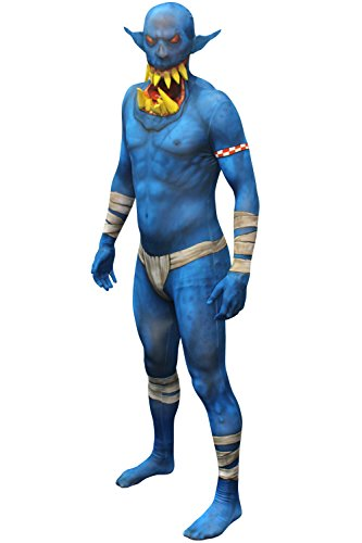 Morphsuits MLORBL - Costumi Blu Orco Jaw Dropper Morphsuit Adulto Grande 5 pollici 4 - 5 pollici 9, 165 cm - 180 cm, L, Multi