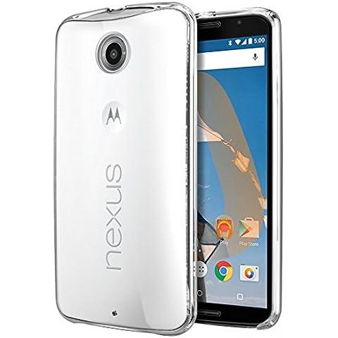 Nexus 6 Funda, iVoler TPU Silicona Case Cover Dura Parachoques Carcasa Funda Bumper para Motorola Google Nexus 6, [Ultra-delgado] [Shock-Absorción] [Anti-Arañazos] [Transparente]- Garantía Incondicional de 18 Meses