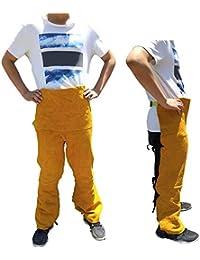 ZPL Pantalones de Soldadura de Piel de Vaca Pantalones Resistentes a Las Llamas/abrasión Soldador