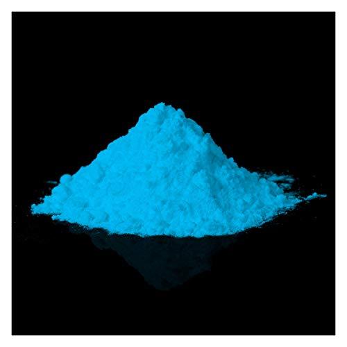 lumentics Premium Glühpulver - Ultra helle Nachleuchtpigmente, selbstleuchtende Farbpigmente, nachleuchtendes Farbpulver, UV Glühpigment, Night-Glow (100g, Blau) -