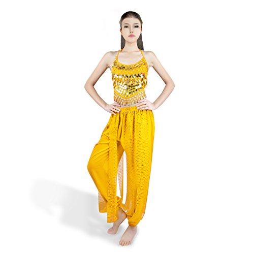 Tanzsport Kostüm Latein (SymbolLife Bauchtanz kostüm damen indischen Tanzkleidung Tanzkostüme belly Dance Halloween Karneval Kostüme Darbietungen Kleidung)