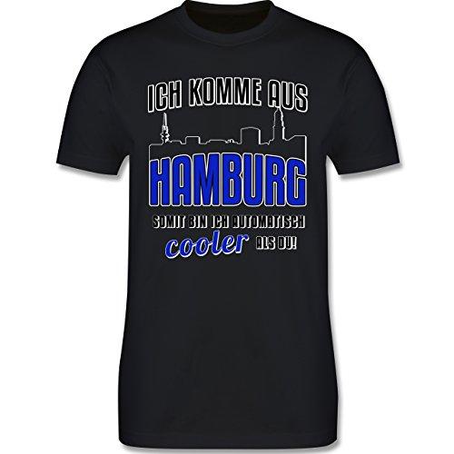 Städte - Ich komme aus Hamburg - Herren Premium T-Shirt Schwarz