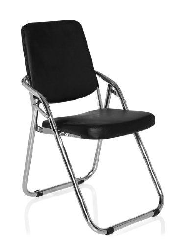 hjh OFFICE 706300 Konferenzstuhl Freischwinger ESTO Kunstleder schwarz, ergonomisch und vielseitig einsetzbar, wertige Verarbeitung, feste...