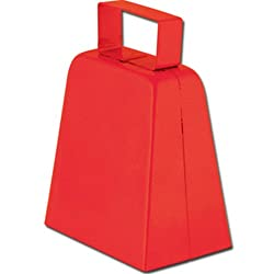 Cowbells (red) Party Accessory (1 count)
