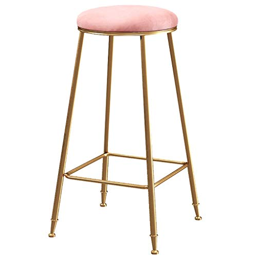 Rückenfreies Küche Hocker (Youyouxiu Metall Barhocker Hohe RüCkenfreie Hocker Innen-AußEn Stapelbare KüChenhocker Counter Height Stools Haushaltswaren Lounge Chair)