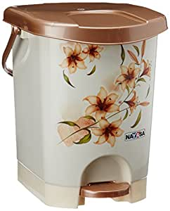 Nayasa Printed Deluxe Plastic Bin with Inner Bucket (4044), Brown