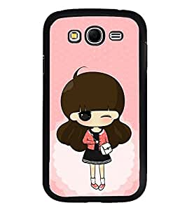 FUSON Designer Back Case Cover for Samsung Galaxy Grand I9082 :: Samsung Galaxy Grand Z I9082Z :: Samsung Galaxy Grand Duos I9080 I9082 (Animated stylish girl design Cute girl design Sweet baby design Lovable design Angel Face girl design)