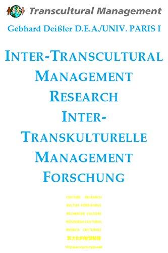 inter-transcultural-management-research-inter-transkulturelle-management-forschung-russian-edition