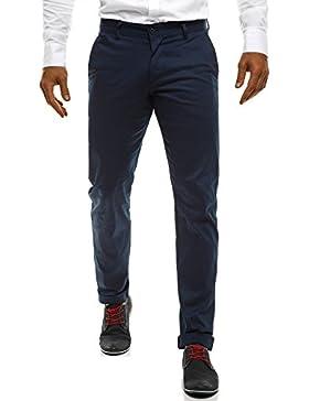 ozonee Pantalones De Hombre Pantalones Chinos Pantalón de traje Negocios Boda Ajustado black rock 206