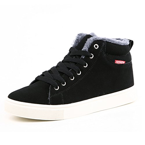 SGoodshoes Uomo Scarpe Invernali Da Neve Imbottiti Scarpe Caldo Casual Sneakers Stivaletti Invernali Nero 39EU