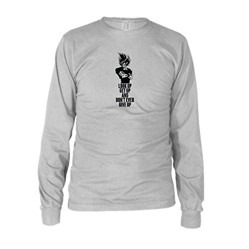 Kostüm Nerd Beat Up (DBZ: Look up Get up - Herren Langarm T-Shirt, Größe: XXL, Farbe:)