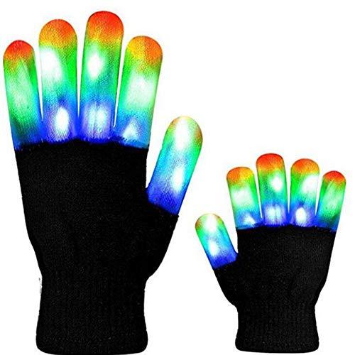 Handschuhe Licht aufziehen Bunt leuchtende Flasching-Fingers Christmas/Bonfire Night/Party Fits Big Kid & Adult Hands