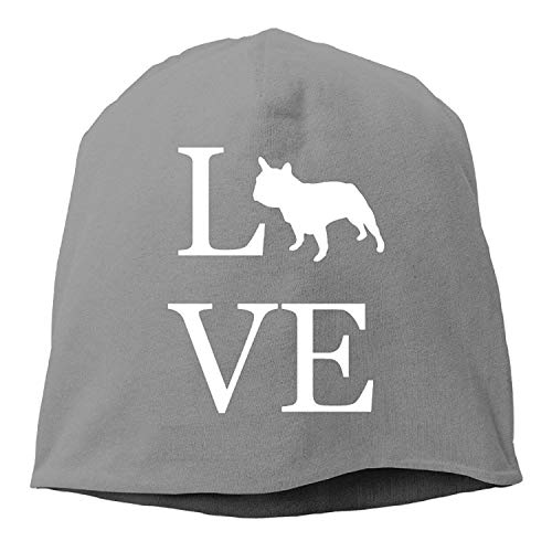 Love French Bulldog I Love Dogs Tuke Unisex Beanie Hats Knit Cap ()