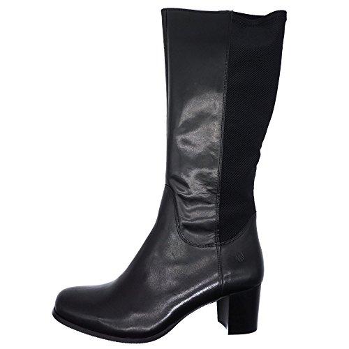JJ Footwear Damen Stiefel Leder/str.text Crofton M/L Schwarz Nappa/