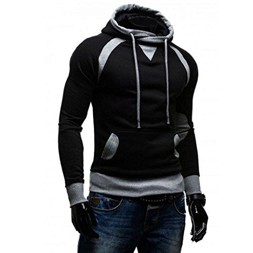 Fresco Felpe, Reasoncool Raffreddare uomini di modo caldo cappotto giacca cappotto maglione incappucciato sottile Nero