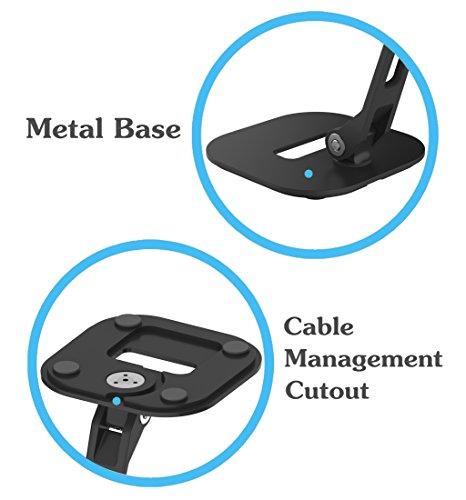 "ZenCT Tablet Ständer, Projektor Ständer, Drehbarer Multi-Winkel-Metall Halter für iPad 1,2,3,4 / iPad Air / Samsung Tablets / Kindle 4-10.1"" - Black"