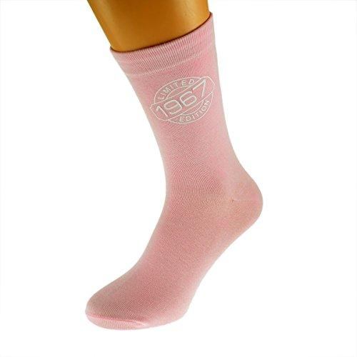 Limited Edition 196750. Geburtstag Damen Rosa Socken UK 4–8EUR 37–41
