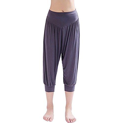 BIBNGLO Yoga Pilates Hosen Freizeithosen Fitness Hosen Weiche Modal Spandex Sporthose Haremshose für Yoga Pants