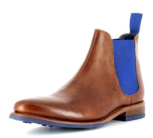 Gordon & Bros Herren Desert Boots Bojan 5926,rahmengenähte,Flexible Männer Stiefel,Halbstiefel,Schnürboots,Bootie,Goodyear Welted,British Tan,EU 42