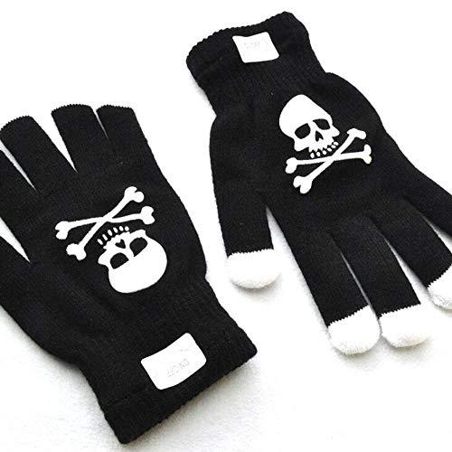 Handschuhe, die Finger Light Up LED-Skeleton Colorful Glowing Fiber Optic Handschuhe, Fits Big Kid & Adult Hands