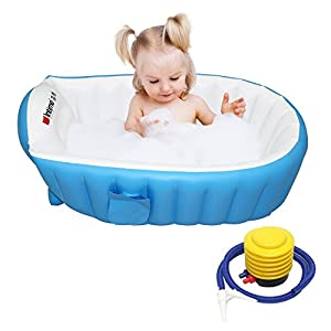 Baby Infant Travel Inflatable Non Slip Bathtub