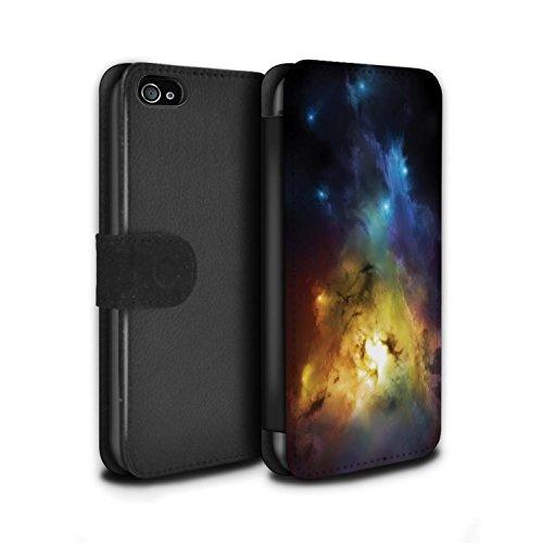 Offiziell Chris Cold PU-Leder Hülle/Case/Tasche/Cover für Apple iPhone 4/4S / Chaos Entfesselt Muster / Fremden Welt Kosmos Kollektion Arcularius Nebel