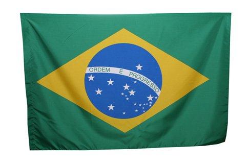 Drapeau brésil brésilien 90x 140cm 100% Polyester avec lacets