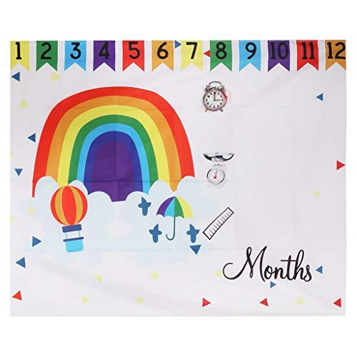 Hasiky Baby Fotohintergrund Fotografie Hintergrund Decke Neugeborene niedliche Dekoration Geburtstag Monat Kreatives Fotostudio (Dekorationen Geburtstag Decke)