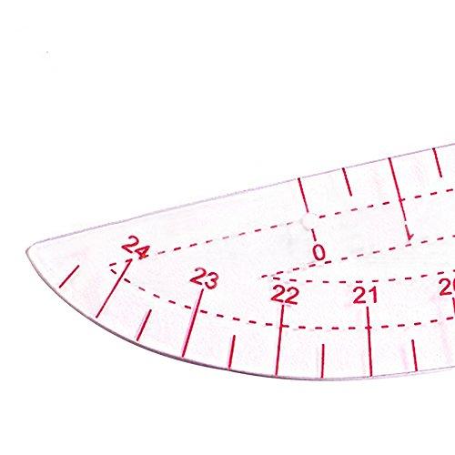 Pinzhi Long Comma Shaped Plastic Curve Rule Spline Measure para coser confección patrón de diseño de plantilla de dibujo