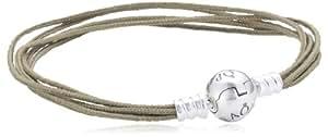 Pandora Damen Armband 925 Sterling Silber Stoff Moments 20.0 cm 590715CKH-M3