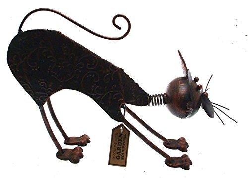 Sculptures de jardin en métal pour décoration de jardin Chat Sculpture de jardin