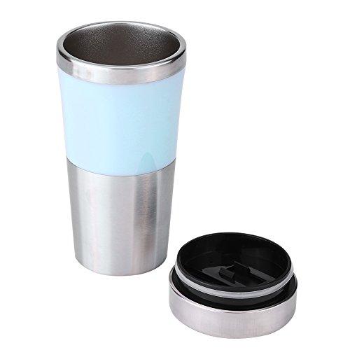 Fdit 350ml 12V Auto Edelstahl Zigarettenanzünder Heizung Cup Wasserkocher 3 Farben(Blau)