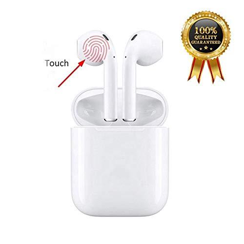 Auriculares Inalambricos Bluetooth Deportivos,Auriculares con HD Micrófono y Caja de Carga,Cancelación de Ruido Manos Libres,Compatible con iPhone Samsung y Otros Teléfonos Inteligentes