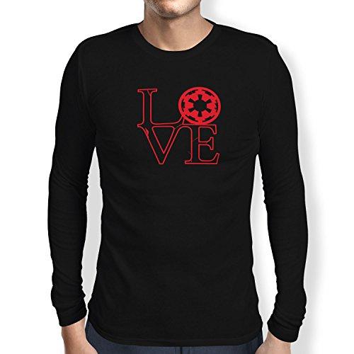 TEXLAB - Empire Love - Herren Langarm T-Shirt Schwarz