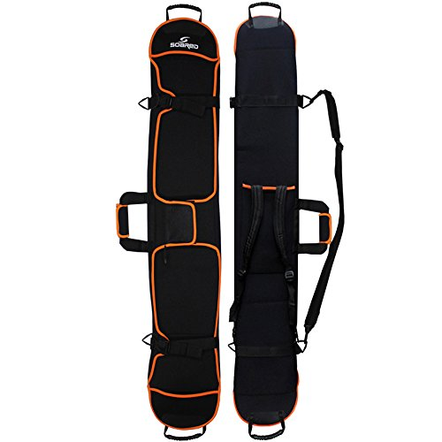 2-FNS Skitasche Kinder Skibag Skisack für 1 Stück Ski 155 cm, Schwarz