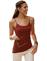 VENCA Camiseta Lisa de Tirantes by Vencastyle,Caldera,XL