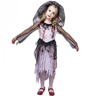 Bloody Bride Corpse Bride Zombie Bride Girls Fancy Dress Costume age 10-12 years